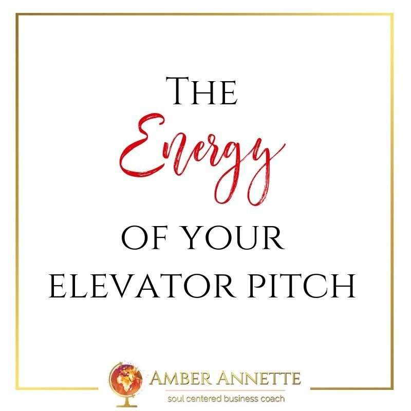 The Energy of Your Elevator Pitch
